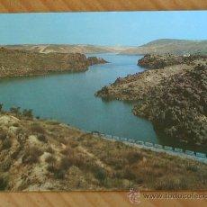 Postales: POSTAL DEL EMBALSE DE ESLA (ZAMORA). AÑOS 60. Lote 12380192