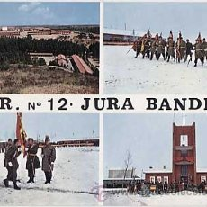 Postales: LEON. CAMPAMENTO DEL FERRAL.C.I.R. Nº 12. JURA DE BANDERA. EDICIONES RO. AÑO 1967. ESCRITA. Lote 17349107
