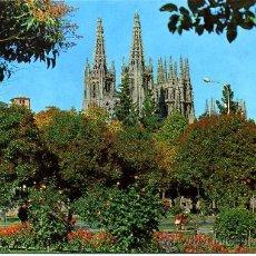 Postales: JARDINES DEL INSTITUTO Y DE FONDO LA CATEDRAL (BURGOS )+ POSTALES Y MUCHO + EN MI TIENDA. Lote 12935461