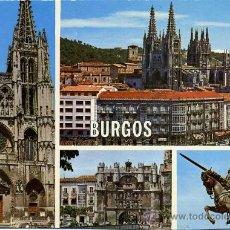 Postales: PUENTE Y ARCO DE SANTA MARIA Y ESTATUA DEL CID CAMPEADOR (BURGOS )+ POSTALES Y MUCHO + EN MI TIENDA. Lote 12935463