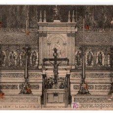 Postales: TARJETA POSTAL DE LEON Nº 69. LA CATEDRAL, ARCA DE LOS RESTOS DE S. FROYLAN. G. GARCIA. Lote 13306366
