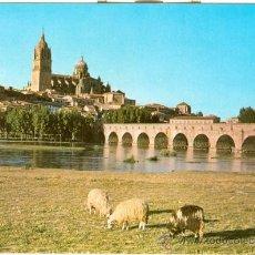 Postales: SALAMANCA - RIO TORMES Y CATEDRAL (1966). Lote 20174454