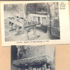 Postales: POST 335 - DOS POSTALES NO CIRCULADAS SANTO DOMINGO DE SILOS : CLAUSTRO, SEPULCRO. Lote 23152549