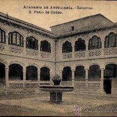 Postales: SEGOVIA : ACADEMIA ARTILLERIA - PATIO DE ORDEN. Lote 18737391