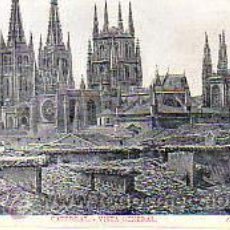 Postales: POSTAL DE BURGOS - CATEDRAL VISTA GENERAL. Lote 13741278