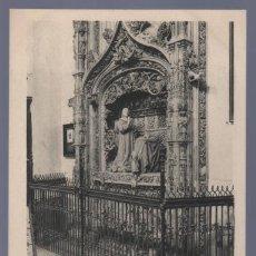 Postales: TARJETA POSTAL DE BURGOS. CARTUJA SEPULCRO DEL INFANTE D. ALONSO. 1331. HAUSER Y MENET.. Lote 14478401