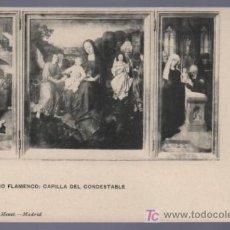 Postales: TARJETA POSTAL DE BURGOS. TRIPTICO FLAMENCO, CAPILLA DEL CONDESTABLE. 1332. HAUSER Y MENET.. Lote 14478623