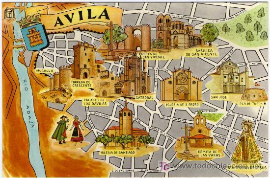 Resultado de imagen de monumentos en avila mapa