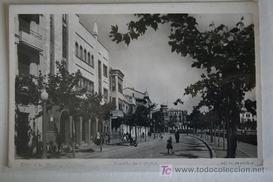 ANTIGUA E INTERESANTE POSTAL ZAMORA. AVENIDA DE PORTUGAL. EDICIONES ARRIBAS Nº 20. SIN CIRCULAR (Postales - España - Castilla y León Antigua (hasta 1939))