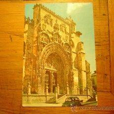 Postales: BUENA POSTAL DE ARANDA DE DUERO.FACHADA DE SANTA MARIA. Lote 14823140