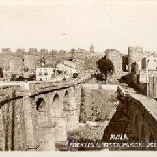 Postales: ÁVILA – PUENTES Y VISTA PARCIAL DE LAS MURALLAS . Lote 25063243