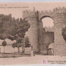 Postales: AVILA .-PUERTA DE SAN VICENTE.HAUSER Y MENET. SIN CIRCULAR. Lote 14899956