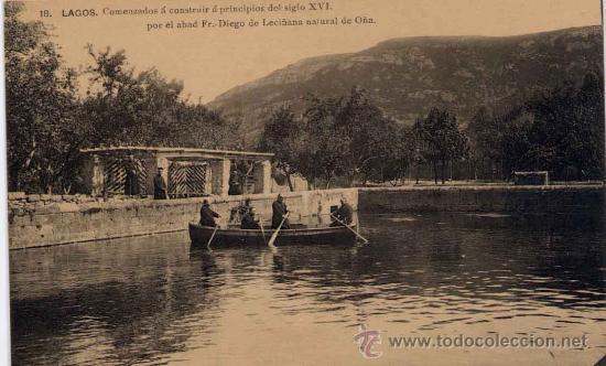 OÑA(BURGOS).- MONASTERIO .-LAGOS (Postales - España - Castilla y León Antigua (hasta 1939))