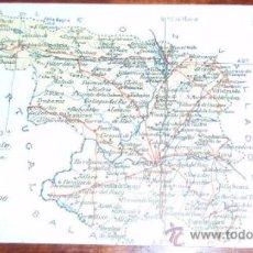 Postales: POSTAL MAPA ZAMORA - ALBERTO MARTIN. Lote 21890004