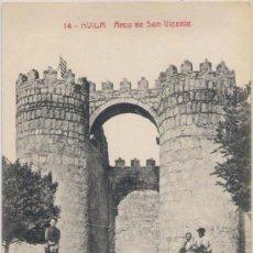 Postales: ÁVILA.-ARCO DE SAN VICENTE. Lote 15356796