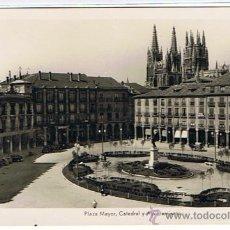 Postales: BURGOS - PLAZA MAYOR CIRCULADA Y FECHADA 1956, FOTO-POSTAL. Lote 22095322