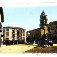 Postales: PONFERRADA.- LEON..- PLAZA DE LA ENCINA.- COLOREADA.- ED. ARRIBAS.- AÑOS CUARENTA.. Lote 18506192