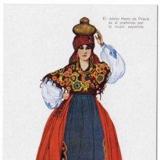 Postales: BONITA POSTAL - LEON - MUJER CON TRAJE REGIONAL - PUBLICIDAD DE JABON HENO DE PRAVIA. Lote 18847672