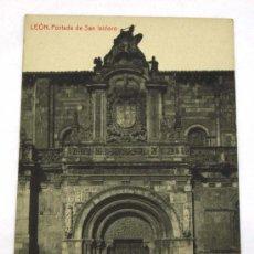 Postales: POSTAL LEÓN PORTADA SAN ISIDORO. Lote 16452862