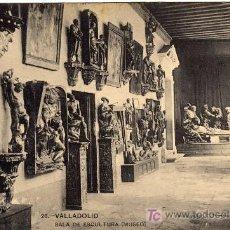 Postais: BONITA POSTAL - VALLADOLID - SALA DE ESCULTURA DEL MUSEO . Lote 26288302