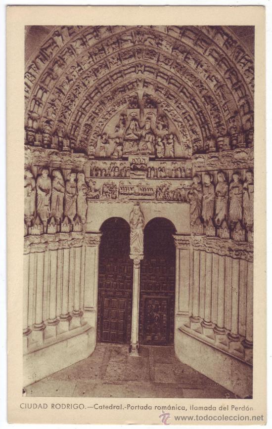 ciudad rodrigo (salamanca): catedral. portada r - Comprar Postales de  Castilla y León en todocoleccion - 27529435