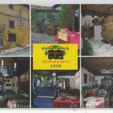 Postales: TARJETA POSTAL MESON LEONES DEL RACIMO DE ORO LEON. Lote 17438465
