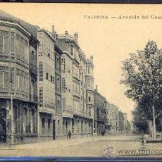Postales: TARJETA POSTAL AVENIDA DEL GENERAL AMOR PALENCIA. Lote 26217002