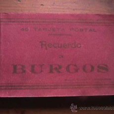 Postales: 40 TARJETAS POSTALES, RECUERDO DE BURGOS, AÑOS 40. Lote 17886600
