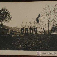Postales: ANTIGUA FOTO POSTAL DE MILITARES DE LA ACADEMIA DE ARTILLERIA EN SEGOVIA, 1908 - J. DUQUE, FOTOGRAFO. Lote 19160873