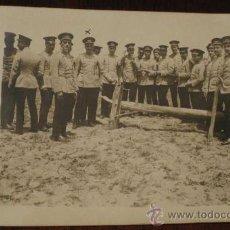 Postales: ANTIGUA FOTO POSTAL DE MILITARES DE LA ACADEMIA DE ARTILLERIA EN SEGOVIA, 1908 - J. DUQUE, FOTOGRAFO. Lote 19160886