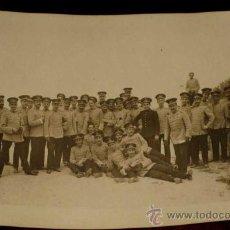 Postales: ANTIGUA FOTO POSTAL DE MILITARES DE LA ACADEMIA DE ARTILLERIA EN SEGOVIA, 1908 - J. DUQUE, FOTOGRAFO. Lote 19160899