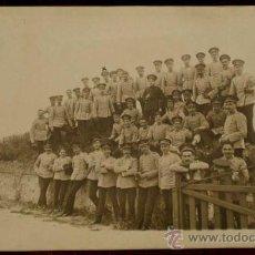 Postales: ANTIGUA FOTO POSTAL DE MILITARES DE LA ACADEMIA DE ARTILLERIA EN SEGOVIA, 1908 - J. DUQUE, FOTOGRAFO. Lote 19160901