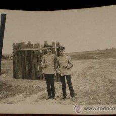 Postales: ANTIGUA FOTO POSTAL DE MILITARES DE LA ACADEMIA DE ARTILLERIA EN SEGOVIA, 1908 - J. DUQUE, FOTOGRAFO. Lote 19160923