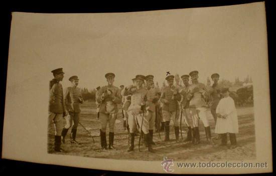 ANTIGUA FOTO POSTAL DE MILITARES DE LA ACADEMIA DE ARTILLERIA EN SEGOVIA, 1908 - J. DUQUE, FOTOGRAFO (Postales - España - Castilla y León Antigua (hasta 1939))