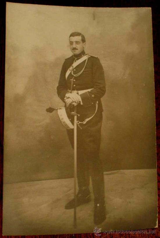 ANTIGUA FOTO POSTAL DE MILITAR DE LA ACADEMIA DE ARTILLERIA EN SEGOVIA, 1908 - J. DUQUE, FOTOGRAFO D (Postales - España - Castilla y León Antigua (hasta 1939))