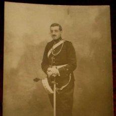 Postales: ANTIGUA FOTO POSTAL DE MILITAR DE LA ACADEMIA DE ARTILLERIA EN SEGOVIA, 1908 - J. DUQUE, FOTOGRAFO D. Lote 19160938