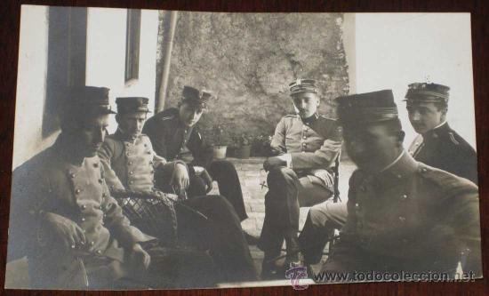 ANTIGUA FOTO POSTAL DE MILITARES DE LA ACADEMIA DE ARTILLERIA DE SEGOVIA, 1908 - J. DUQUE, FOTOGRAFO (Postales - España - Castilla y León Antigua (hasta 1939))