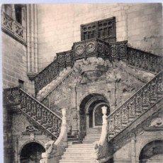 Postales: TARJETA POSTAL ANTIGUA DE BURGOS. CATEDRAL, ESCALERA DE LA CORONERIA. Nº 1372. HAUSER Y MENET.. Lote 18818243