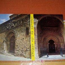 Postales: POSTAL DE CARRIÓN DE LOS CONDES ( PALENCIA ),PÓRTICO ROMÁNICO IGLESIAS DE SANTIAGO Y SANTA MARIA. Lote 19126793