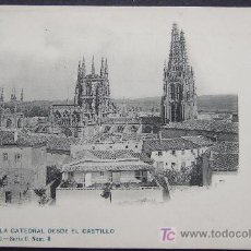 Postales: BURGOS – LA CATEDRAL DESDE EL CASTILLO – COLECCIÓN D'ASLOC. SERIE C NO. 8. Lote 25013754