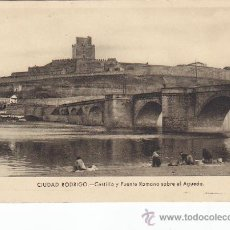 Postales: CIUDAD RODRIGO (SALAMANCA): CASTILLO Y PUENTE ROMANO SOBRE EL AGUEDA. POSTAL FOTO PAZOS, SIN USAR. . Lote 19601201