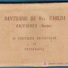 Postales: SANTUARIO DE STA. CASILDA. BRIVIESCA, BURGOS. 10 POSTALES ARTÍSTICAS EN FOTOGRAFÍA, SIN FECHA.. Lote 19940294