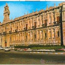 Postales: LEON - HOSTAL SAN MARCOS (1969) - POSTAL CON COCHES ANTIGUOS. Lote 20667180