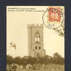 Postales: POSTAL DE PALENCIA: TORRE DE SAN MIGUEL (ED.ALONSO). Lote 20782836