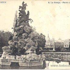 Postales: PS2071 LA GRANJA 'FUENTE DE LA FAMA'. BAZAR BRUN. FOTO LACOSTE. CIRCULADA EN 1918. Lote 21411297