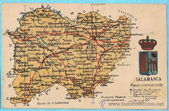 Mapa Con Escudo De La Provincia De Salamanca A Comprar Postales