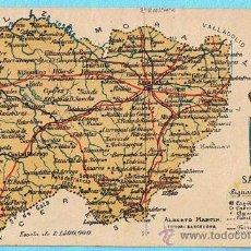 Postales: MAPA CON ESCUDO DE LA PROVINCIA DE SALAMANCA. ALBERTO MARTIN EDITOR. BARCELONA.. Lote 21498002