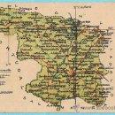 Postales: MAPA CON ESCUDO DE LA PROVINCIA DE ZAMORA. ALBERTO MARTIN EDITOR. BARCELONA.. Lote 53417688