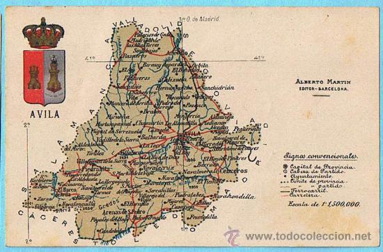 Mapa De Avila Capital.Provincia De Avila Mapa Mapa