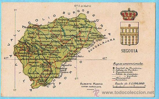 Provincia De Segovia Mapa.Mapa Con Escudo De La Provincia De Segovia Alb Vendido En